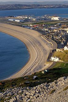 Chesil cove from west cliff portland dorset