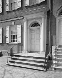 ENTRANCE DETAIL - Samuel Powel House, 244 South Third Street, Philadelphia, Philadelphia County, PA HABS PA,51-PHILA,25-4