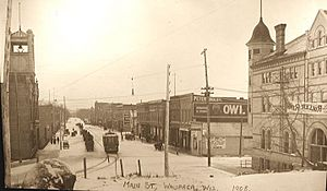 WaupacaWisconsinDowntown1908