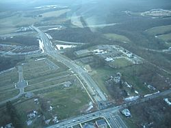 An aerial view of Clarksburg, Maryland in January 2007.
