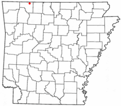 Location of Oak Grove, Arkansas