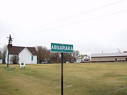 Sign for Absaraka