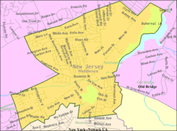 Census Bureau map of Spotswood, New Jersey