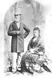Charles Reed Bishop and Bernice Pauahi Bishop in San Francisco, Kamehameha Schools Archives