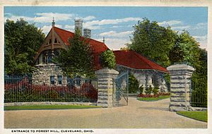 Entrance to Forest Hill Home of John D. Rockefeller (NBY 2965)