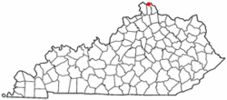 Location of Ludlow, Kentucky