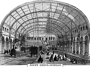 King's Cross Metropolitan Railway Station, Interior - 1862