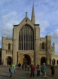 Norwich Cathedral Facade