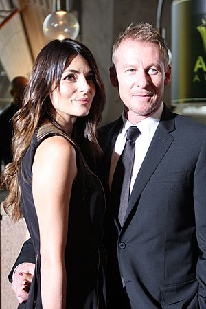 Silvia Colloca and Richard Roxburgh AACTA 2012 (1)
