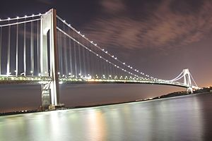 Verrazano-Narrows Bridge @ Night from Brooklyn