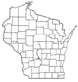 Location of Lyndon, Wisconsin