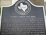 """Courthouse under the Oaks"" historical marker, Athens, TX IMG 0577"