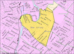 Census Bureau map of Wallington, New Jersey