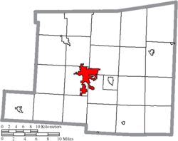 Location of Mount Vernon in Knox County
