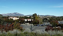 View of San Ramon, at the corner of Bollinger Canyon Rd. and San Ramon Valley Blvd. Mount Diablo is in the background on the left.
