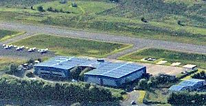 Cumbernauld Airport from the air (crop)