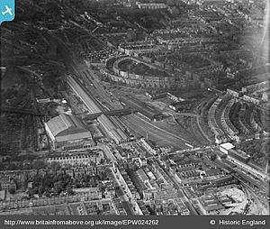 Lillie Bridge Depot and Earl's Court 1928-EPW024262