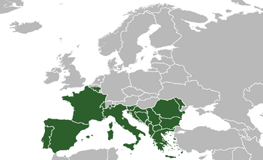 Southern Europe (Robinson projection)