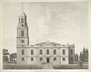 The South Elevation of Saint John's Church in Wakefield by Lindley & Watson architects 1797