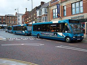Arriva Optare Solo buses in Darlington 5 May 2009 pic 1