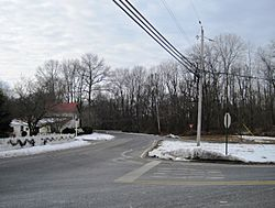 Looking west from the intersection of Sharon and Windsor roads