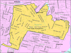 Census Bureau map of Westwood, New Jersey