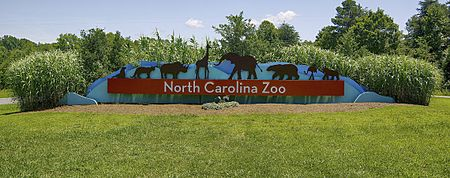 NC Zoo Entrance Sign 2019
