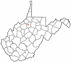 Location of West Union, West Virginia
