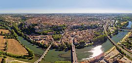 Aerial view of Béziers
