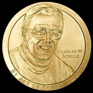 Charles Schulz Congressional Gold Medal obverse