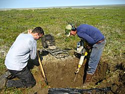 Digging in permafrost