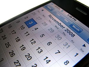 Iphone calendar screen