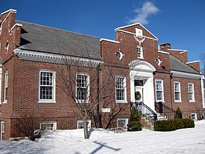 Millbury Public Library in the Snow 01