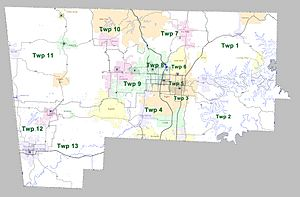 Benton County Arkansas 2010 Township Map large