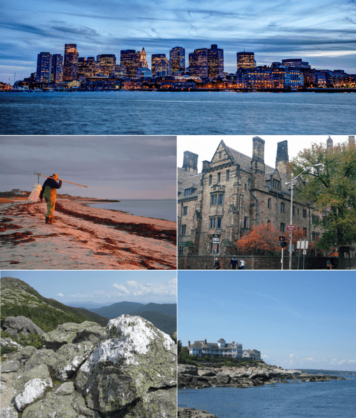 Collage of New England related images 2