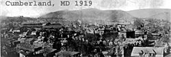 Cumberland md panoramic 1919