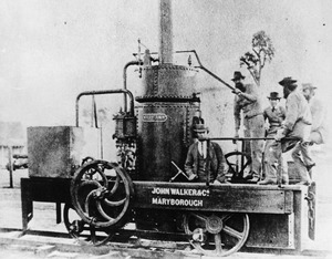 First steam locomotive built in Queensland the Mary Ann, ca. 1875f