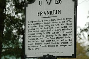 Franklin VA sign