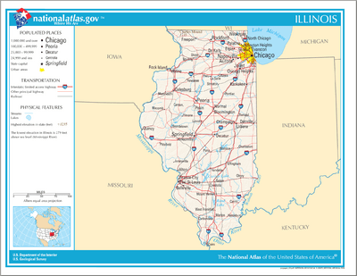 Map of Illinois NA