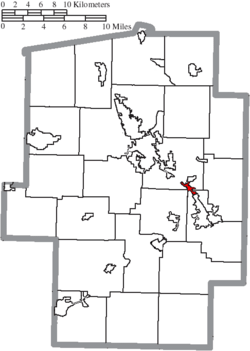 Location of Midvale in Tuscarawas County