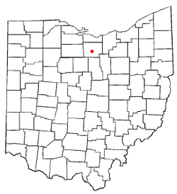 Location of North Fairfield, Ohio