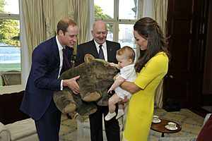 Prince George of Cambridge with wombat plush toy (crop)