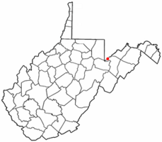 Location of Bayard in West Virginia