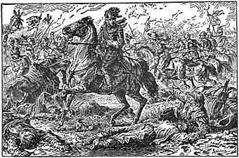 08 Death of Gustavus Adolphus at Lutzen-Illust by Johan Schonberg for Lion of the North by G A Henty