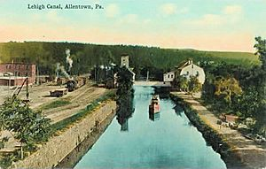 1910 - Lehigh Canal with Canal Boat