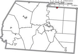 Location of Kingston in Ross County