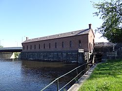 Pawtucket Gatehouse; southwest and southeast sides; Lowell, MA; 2012-05-19