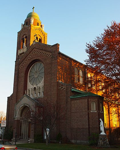 St Casimir Parish, South Bend at sunset