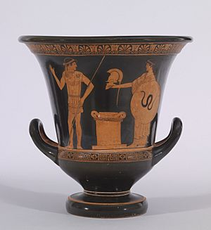 Altamura Painter - Red-Figure Calyx Krater - Walters 48262 - Side A