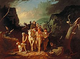 George Caleb Bingham - Daniel Boone escorting settlers through the Cumberland Gap